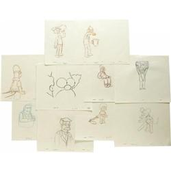 Simpsons Set of Production Sketches. A set of te Simpsons Set of Production Sketches.