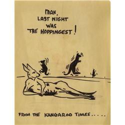 Red Skelton Kangaroo Drawing. A cartoon sketch Red Skelton Kangaroo Drawing.