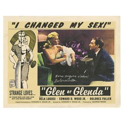 Glen or Glenda Signed Lobby Card.