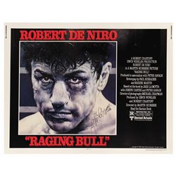 Raging Bull Half Sheet Signed by Jake LaMotta.