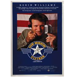 Signed Robin Williams Good Morning Vietnam Poster.