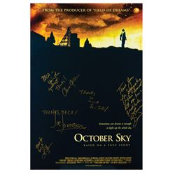 Signed October Sky Event Poster.