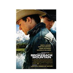 Signed Brokeback Mountain Event Poster.