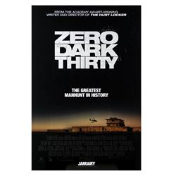 Signed Zero Dark Thirty Event Poster.