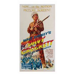 Davy Crockett King of the Wild Frontier 3-Sheet Poster.