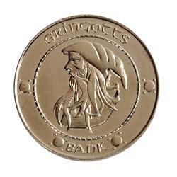 Harry Potter Gringott's Silver Sickle Prop Coin.