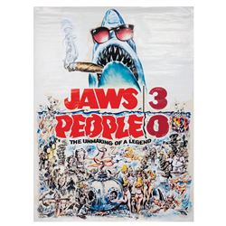 Jaws 3, People 0 Unproduced Film Poster.