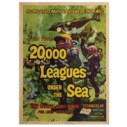 20,000 Leagues Under the Sea 30x40 Cardstock Poster.