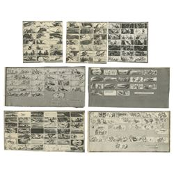 Set of (7) 20,000 Leagues Storyboard Photostats.