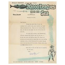 20,000 Leagues Walt Disney Productions Letter.
