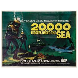 20,000 Leagues Under the Sea British Quad Poster.