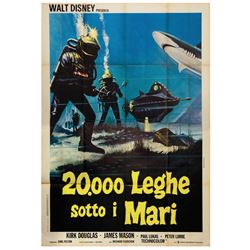 20,000 Leagues Under the Sea Italian Four Sheet Poster.