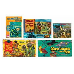 Collection of (5) 20,000 Leagues Games & Puzzles.