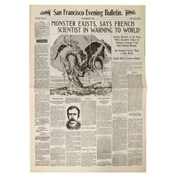 20,000 Leagues Newspaper Prop Reproduction.