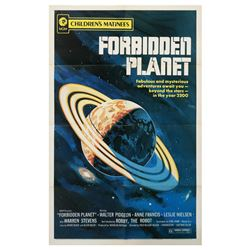 Forbidden Planet One Sheet Poster.