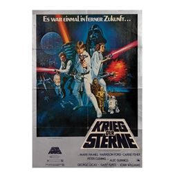 Star Wars German A1 Poster.