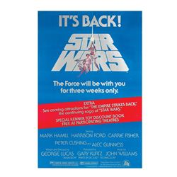 Star Wars Re-Release One Sheet Poster.