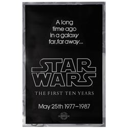 Star Wars 10th Anniversary Mylar Poster.