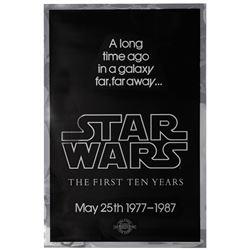 Star Wars 10th Anniversary Mylar Poster.
