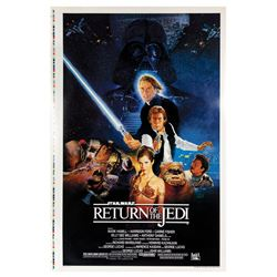 Return of the Jedi White Title Printer's Proof Poster.