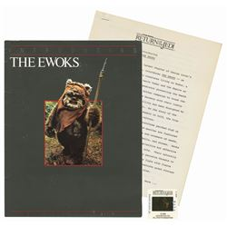 """Introducing the Ewoks"" Press Folder."