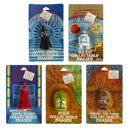 Set of (5) Return of the Jedi Collectible Erasers.