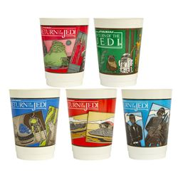 "Set of (5) ""Return of the Jedi"" Plastic Cups."