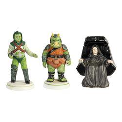 "Set of (3) ""Return of the Jedi"" Ceramic Figures."