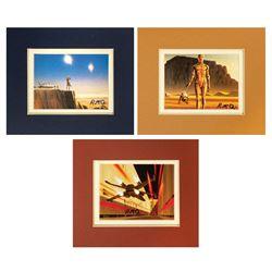 Signed Set of (3) Star Wars Ralph McQuarrie Prints.