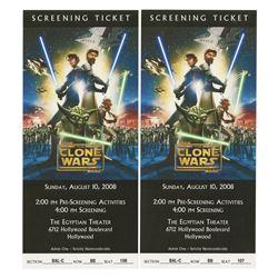 Pair of Star Wars: The Clone Wars Premiere Tickets.