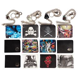 Collection of (12) Star Wars Wallet Production Samples.