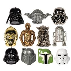 Collection of (11) Star Wars Character Belt Buckles.