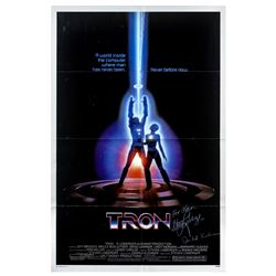 Signed Tron One-Sheet Poster.