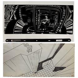 Original Tron Effects Cel & Storyboard.