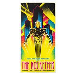 The Rocketeer 20th Anniversary Blacklight Poster.