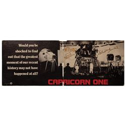 Signed Capricorn One Promotional Sign.