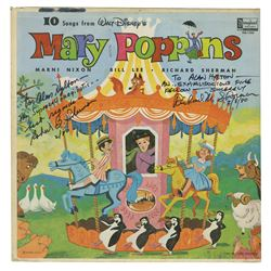 Mary Poppins Record Signed by The Sherman Brothers.