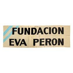 Evita Fundacion Eva Peron Banner.