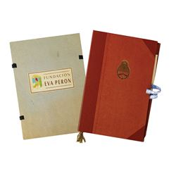 Pair of Evita Prop Folders & Documents.