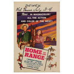 Home on the Range Window Card.
