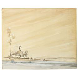 Badman's Territory Opening Titles Painting.
