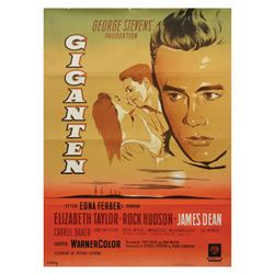 Giant James Dean Danish Movie Poster.