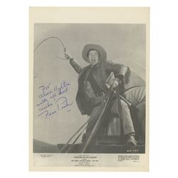 Fess Parker Signed Westward Ho the Wagons! Photo.