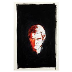 Steve McQueen Painting by Robert Tanenbaum.