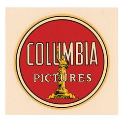 Columbia Pictures Unused Parking Decal.