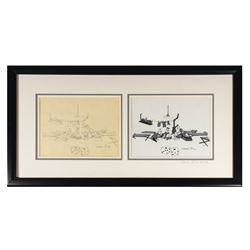 Signed Chuck Jones Private Snafu Drawing & Cel.