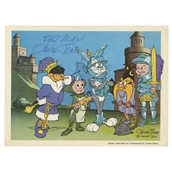 Chuck Jones Signed Looney Tunes Fan Card.