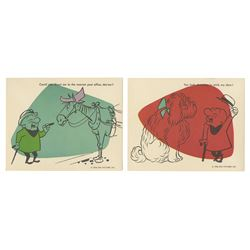 Pair of Mr. Magoo UPA Christmas Cards.
