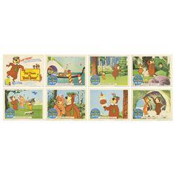 Set of (8) Hey There, It's Yogi Bear! Lobby Cards.