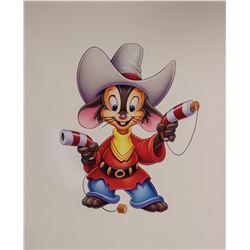 Original An American Tail: Fievel Goes West Painting.